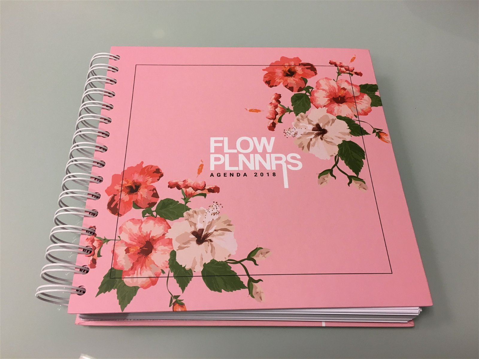 Flow Planners Agenda 2018 ontworpen door Marloes de Jong.