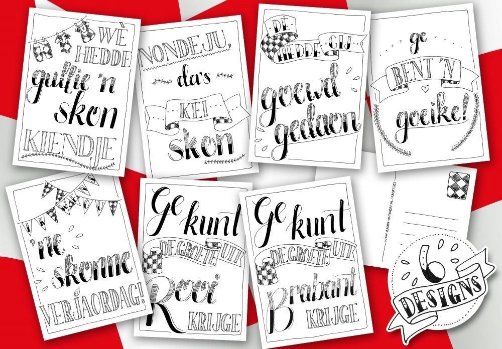 Brabantse wenskaartjes of te wel kaortjes van Moniek Vijfwinkel