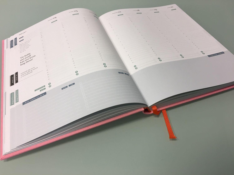 Purpuz Planner Pink Weekschema