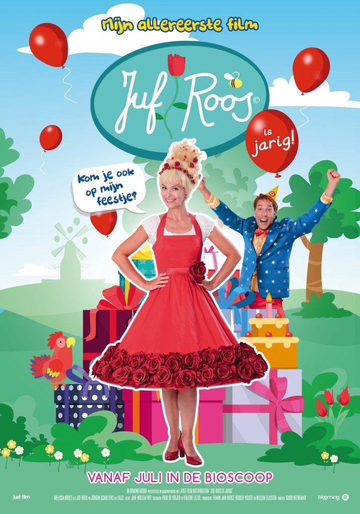 Juf Roos is jarig de bioscoopfilm 31 juli in bios releaseposter