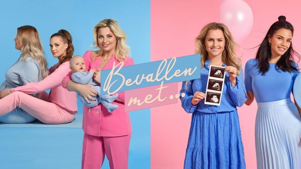 Bobbi Eden, Monica Geuze, Marly van der Velden en Fatima Moreira de Melo ondersteunen verloskundigen bij bevalling op TLC