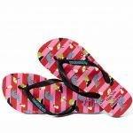Havaianas roze limited edition Happy Socks