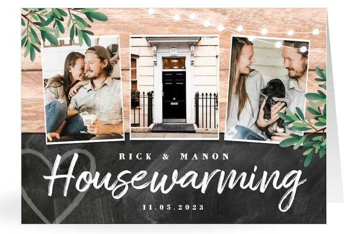 Housewarming kaartje ontwerpen met eigen foto's bij Kaartje2go