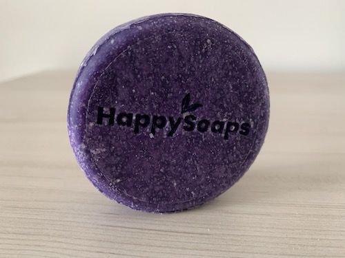 Shampoo bar Purple Rain HappySoaps ook geschikt voor geblondeerd haar (als zilvershampoo)